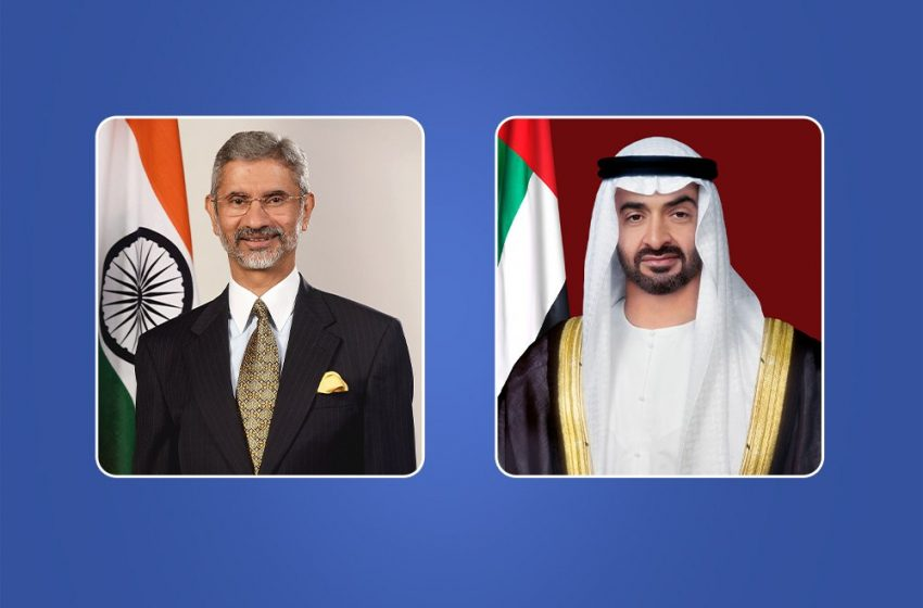 Mohamed bin Zayed receives Indian Minister of External Affairs