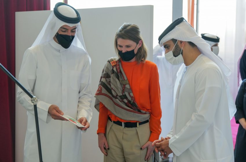 Mansour bin Mohammed opens Hermes Carre Club exhibition in Dubai