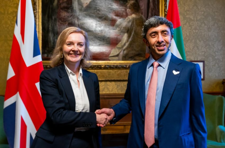 Abdullah bin Zayed, UK Secretary of State review regional developments